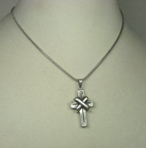 Mens cross necklace mens jewelry pewter cross chain cross mens cross necklace mens jewelry pewter cross chain cross pendant industrial aloadofball Images