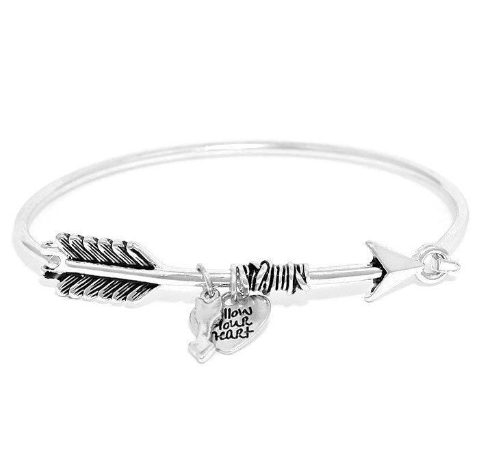 silver arrow message products bracelet sterling printed with gift graduation card image
