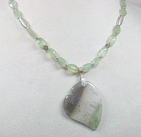 Agate heart necklace mint green gemstone heart necklace heart agate heart necklace mint green gemstone heart necklace heart jewelry agate heart pendant aloadofball Choice Image