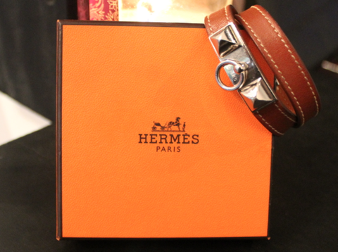 SOLD,Hermes,Collier,De,Chien,Leather,Wrap,Bracelet,hermes, bracelet, brown, leather