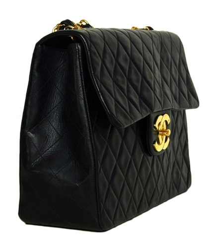 SOLD-CHANEL,Black,Vintage,Quilted,Lambskin,MAXI,Bag,chanel, chanel quilted, chanel maxi, chanel handbag, chanel classic