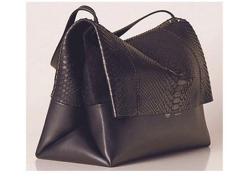 Celine,SOFT,TOTE,WITH,PYTHON,FLAP,Soft tote, celine soft tote, python celine, celine consignment, celine bags