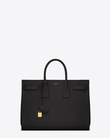 Saint,Laurent,Classic,Large,Sac,de,Jour,Bag,in,Black,Leather,SAINT LAURENT. SAC DU JOUR, SAC DU JOUR CONSIGNMENT, TRUNKSHOWCONSIGNMENT, NYC CONSIGNMENT STORES,
