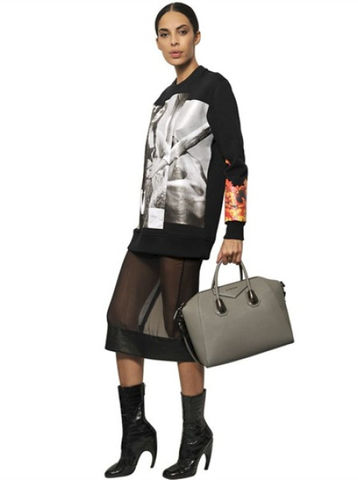 Givenchy,Gray,Leather,Antigona,GIVENCHY, GIVENCHY antigona, GIVENCHY BAG, LEATHER