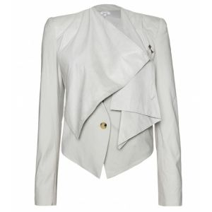 Helmut Lang Off White Leather Cotton Jacket - product image