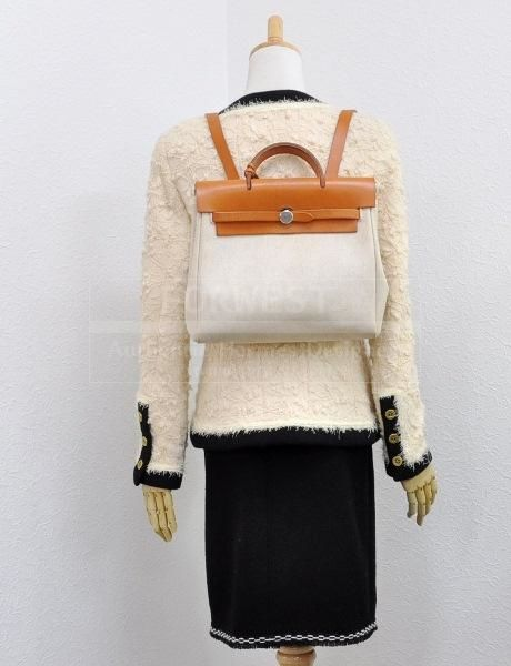 SOLD-Hermes Canvas Backpack - Trunk Show Designer Consignment