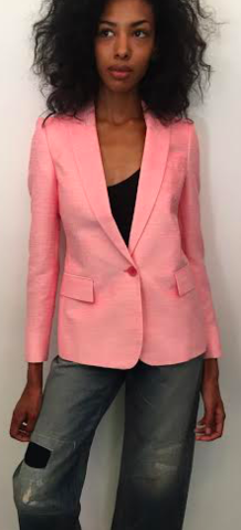 SOLD-Stella,MCcartney,Bubble,Gum,Pink,Blazer,stella mccartney, summer blazer, blazers, summer