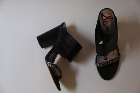 SOLD-Sam,Edelman,Leather,Mule,leather sandals, sam edelman, sam edelman consignment