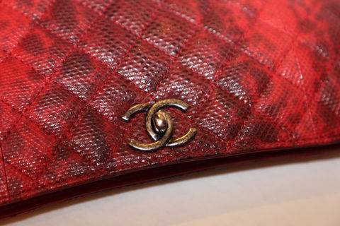 Chanel,Snakeskin,Clutch,with,chain,chanel snakeskin bag, chanel consignment, chanel bags, chanel bag sale