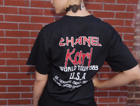 Iron,Maiden,inspired,Chanel,Tee,T-shirt, Band shirt, Chanel, Consignment, Harlem