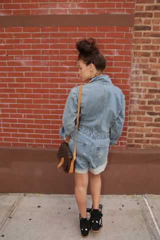 SOLD-SEA,Denim,Romper,sea new york, denim romper, denim clothing, denim, vintage denim, denim consignment