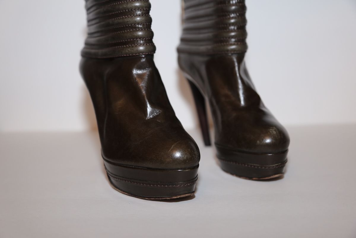 Guillaume Hinfray leather bootie - product images  of