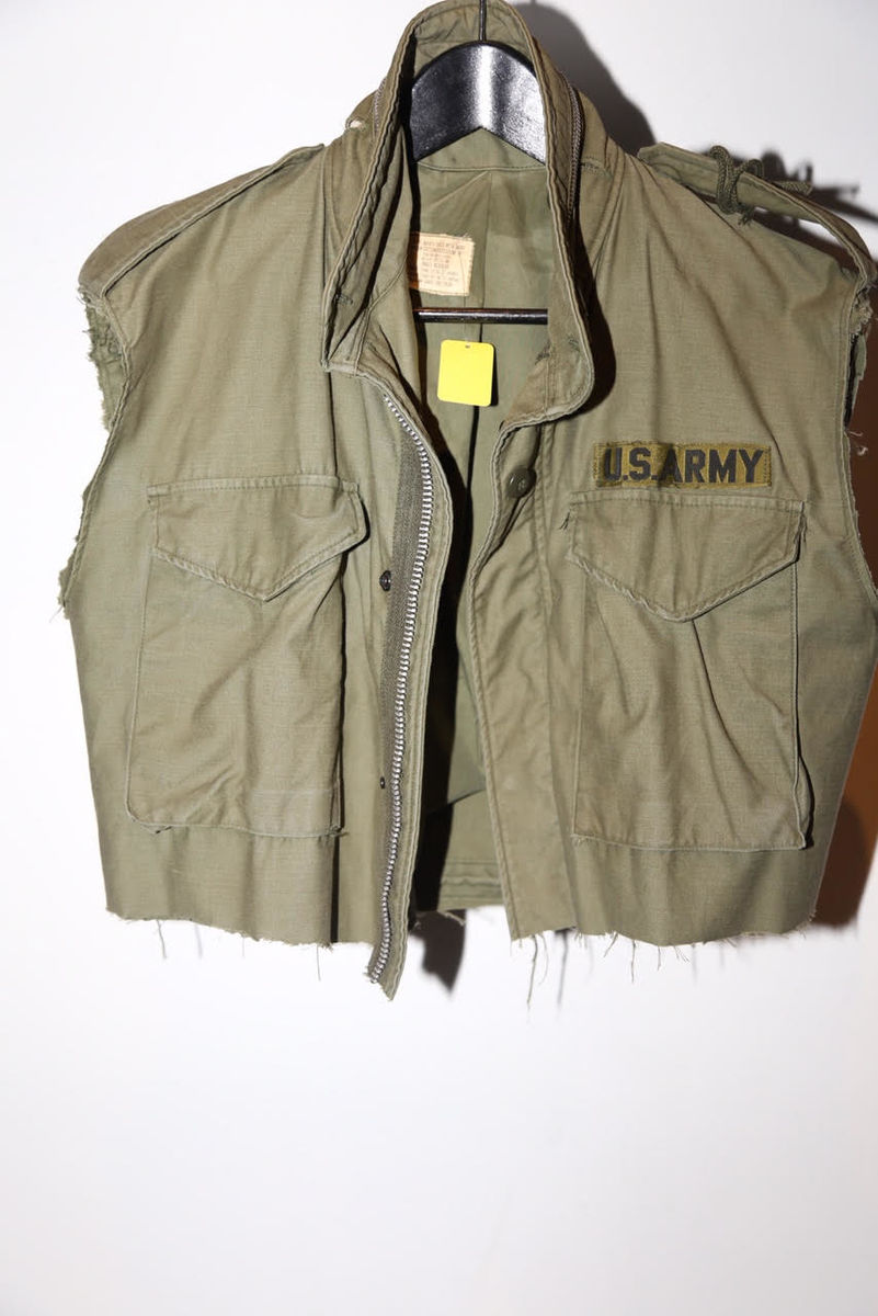 Reassembled Military cropped vest - product images  of