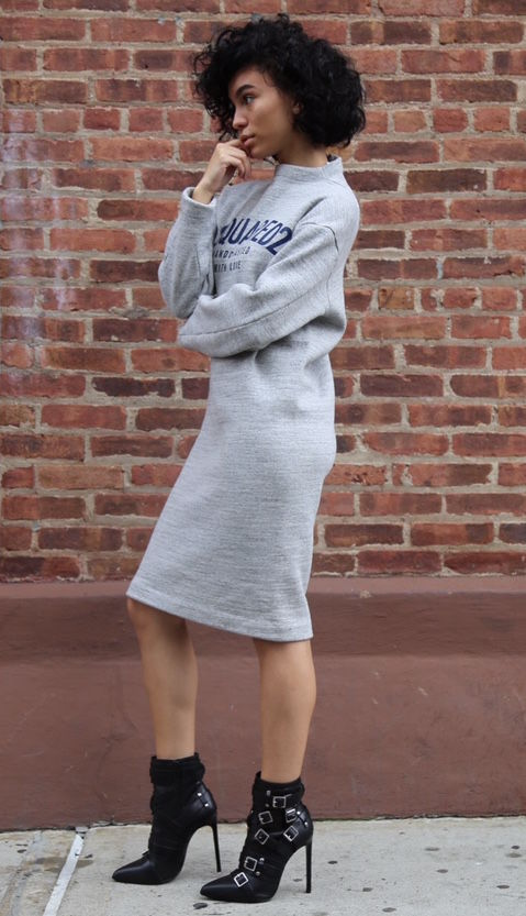 D Squared Sweatshirt Dress - product images  of
