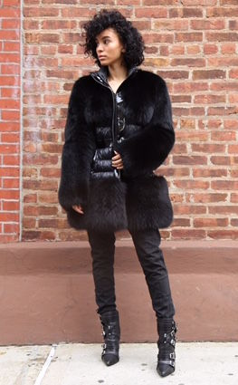 Burberry Fox Fur Puffer Coat - product images  of