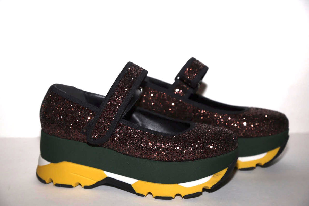 Marni Glitter Platform Sneaker - product images  of