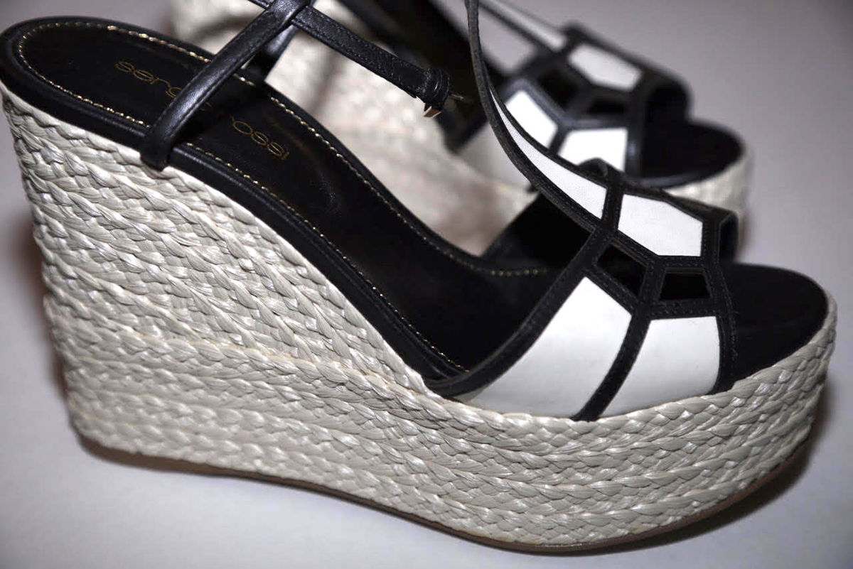 Sergio Rossi Espadrille Wedge Sandal - product images  of
