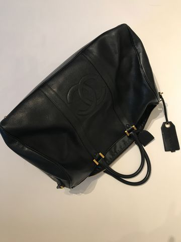 VINTAGE,CHANEL,Cc,Jumbo,Boston,Black,Travel,Bag,CHANEL BOSTON BAG, CHANEL LUGGAGE, CHANEL CARRY ON, CHANEL VINTAGE, CHANEL COSNIGNMENT