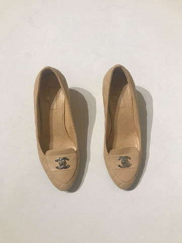 Chanel,Quilted,Shoes,chanel flats, chanel quilted flats, preloved, chanel consignment