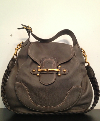 SOLD-,Gucci,Leather,Handbag,(Braided,Messenger,Strap),gucci, gucci messenger, gucci leather, leather handbag