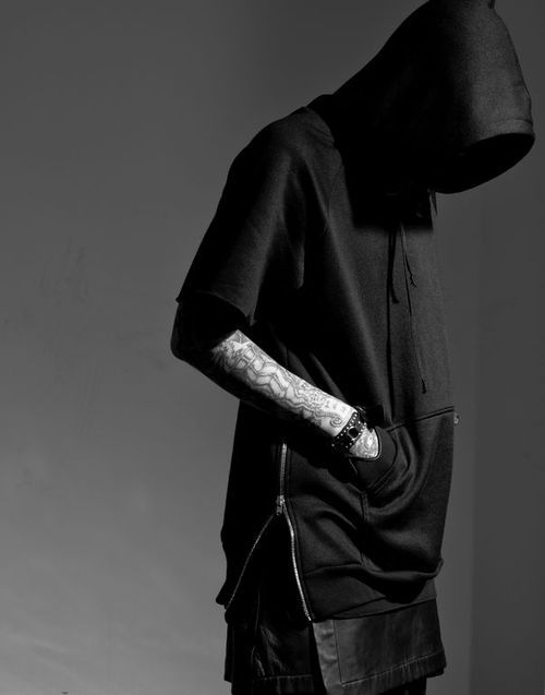 """Fear of God"" Black Short-sleeved hooded sweatshirt - product images  of"