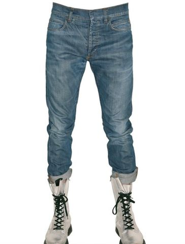 SOLD-BALMAIN,Blue,Slim,Fit,Washed,Denim,Jeans
