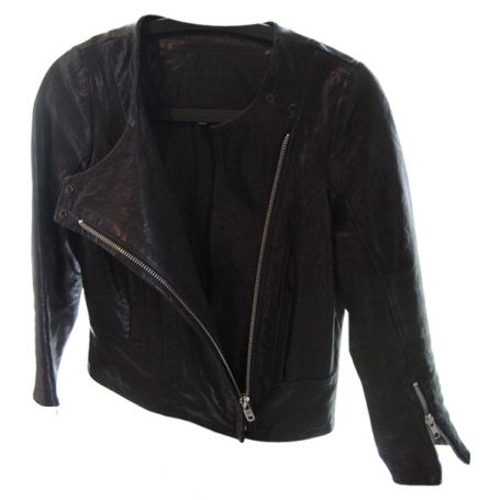 SOLD-Sandro,3/4,Sleeved,Leather,Jacket,leather jacket, leather, sandro, womens leather jacket