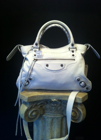 SOLD-Brand,New,White,Balenicaga,Motorcycle,Messenger,Bag,balenciaga, white handbags, white leather, white motorcycle leather