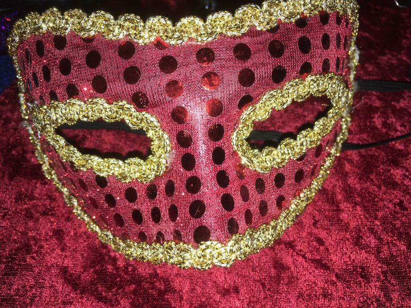 Lot of 3 Masks & 3 Sparkly Headbands - product images  of