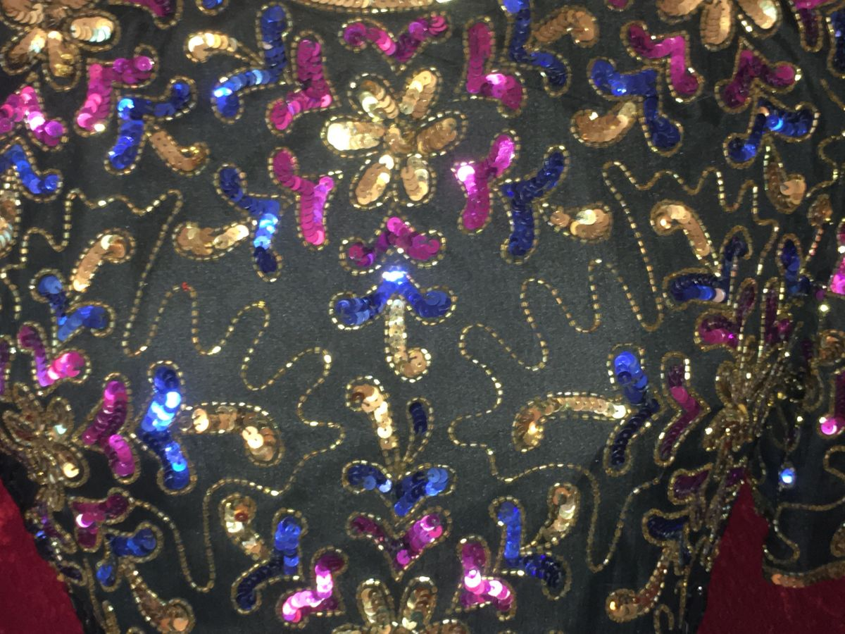 Sparkly Lovely Cocktail Dress in Pink, Royal Blue, Gold & Black Beads & Sequins - product images  of