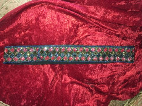Flawless,,Beaded,Belt,Brilliant,Colors,&,Pattern,Flawless, Beaded Belt Brilliant Colors & Pattern