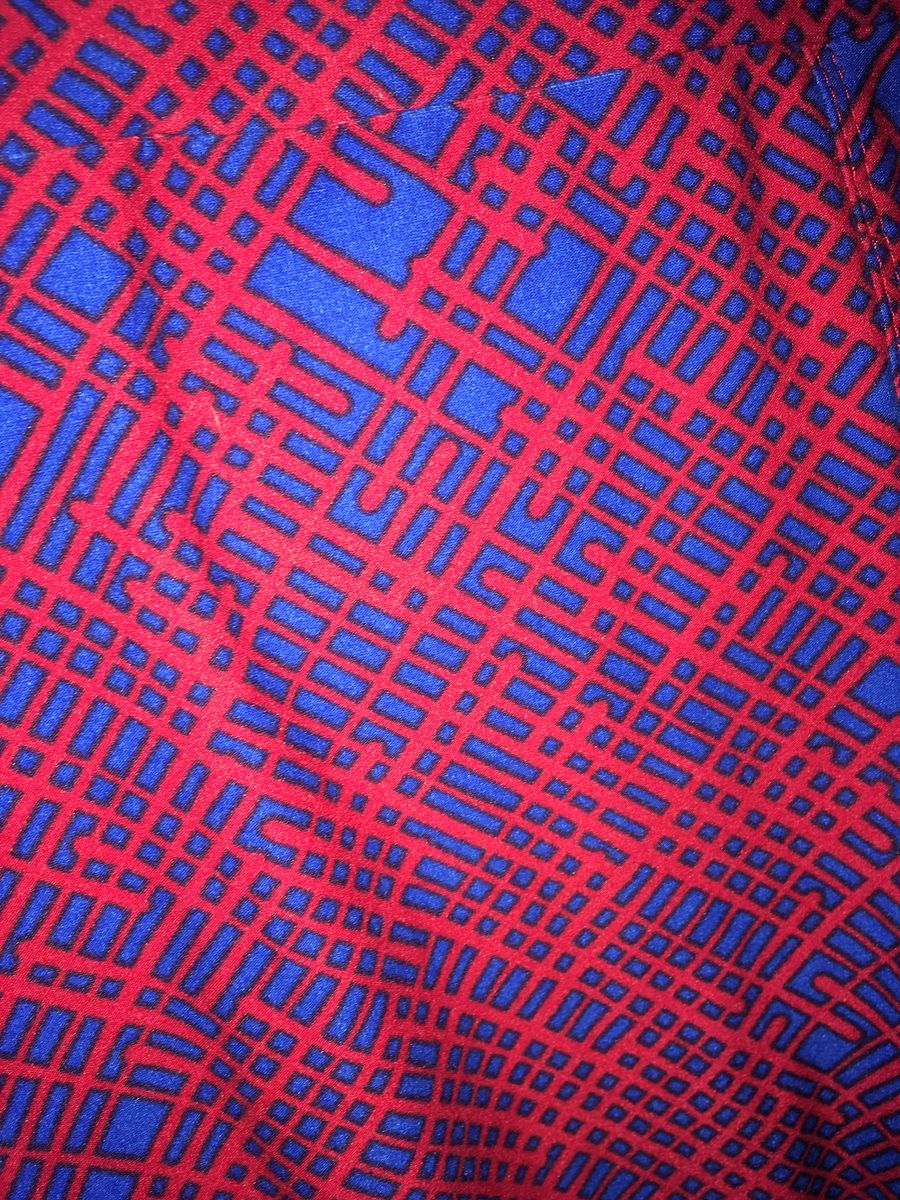 LulaRoe OS Blue & Red Electric Pattern Leggings - product images  of