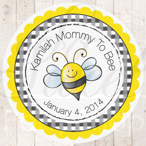 24,Baby,Shower,Favor,Sticker,Labels,-,Mommy,To,Bee,Theme,Bumble,favor sticker labels, party favors birthday stickers, party favor bag stickers, containers labels, envelope seals, party decor labels