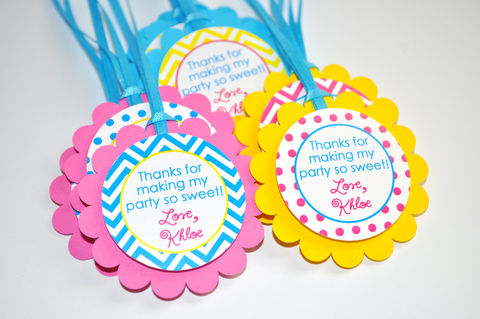 12,Chevron,Polkadot,Favor,Tags,-,Girls,1st,Birthday,Decorations,with,Polkadots,Teal,,Pink,,Yellow,chevron birthday, 1st birthday, favor tags, birthday favor tags, party favors, girls birthday decorations, polkadot birthday, pink, teal, yellow