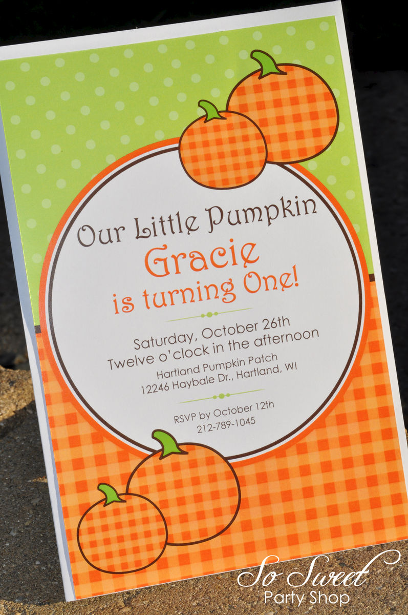 pumpkin birthday invitations  pumpkin baby shower  halloween, Birthday invitations