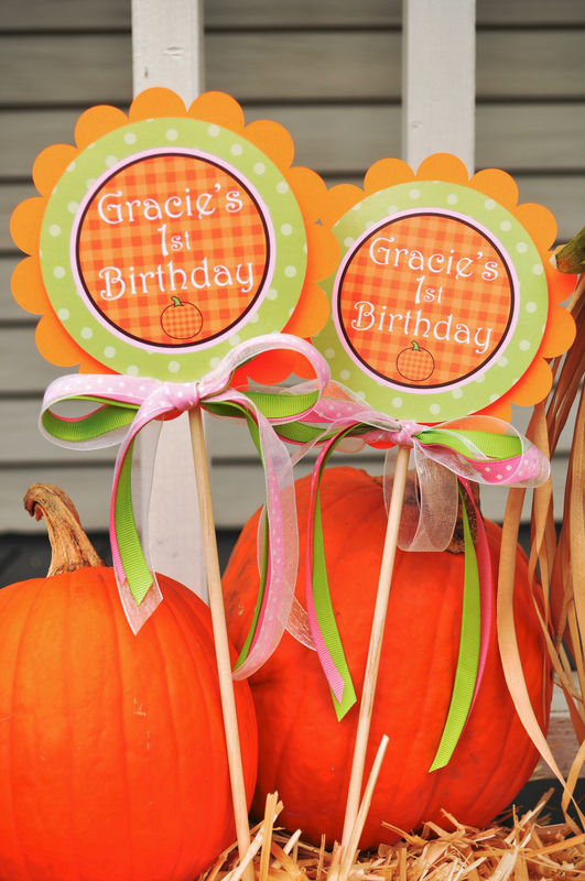 baby shower halloween autumn birthday party decorations set of 12