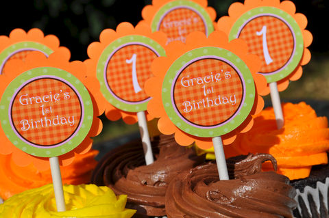 Pumpkin,Cupcake,Toppers,-,Birthday,Party,Halloween,,Autumn,Decorations,Set,of,12,pumpkin cupcake toppers, pumpkin birthday party, pumpkin theme party,birthday banners, decoration, baby shower banner, 1st birthday banner, happy birthday banner, party sign, personalized party, girls birthday party, birthday banner, party decorations, gi