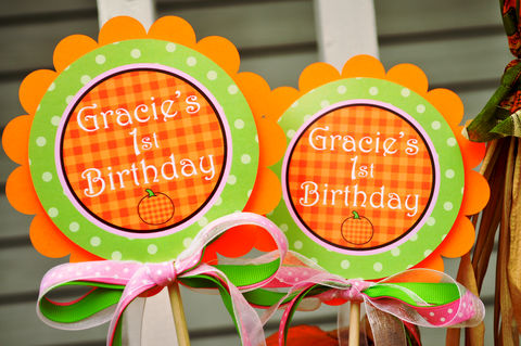 Pumpkin,Centerpiece,Sticks,-,Birthday,Decorations,Baby,Shower,Set,of,2,pumpkin centerpiece sticks, birthday centerpieces, pumpkin water bottle labels, personalized water bottle labels, pumpkin cupcake toppers, pumpkin birthday party, pumpkin theme party,birthday banners, decoration, baby shower banner, 1st birthday banner, h