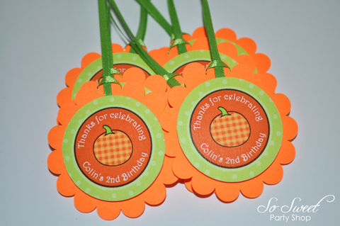 Pumpkin,Birthday,Favor,Tags,-,Halloween,,Autumn,Party,Decorations,Set,of,12,pumpkin favor tags, birthday favor tags, pumpkin centerpiece sticks, birthday centerpieces, pumpkin water bottle labels, personalized water bottle labels, pumpkin cupcake toppers, pumpkin birthday party, pumpkin theme party,birthday banners, decoration, b