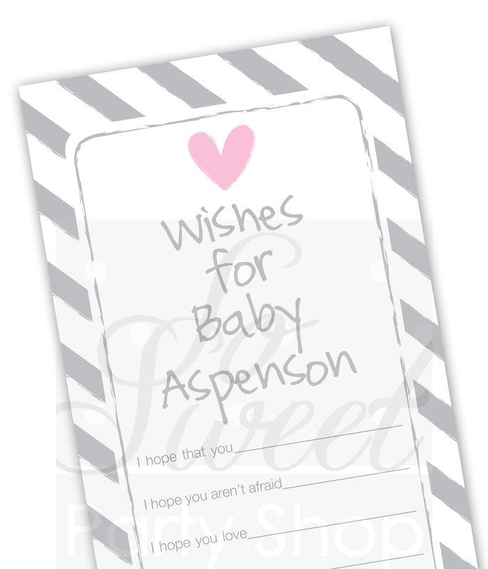 baby wish cards girls baby shower well wish cards baby shower