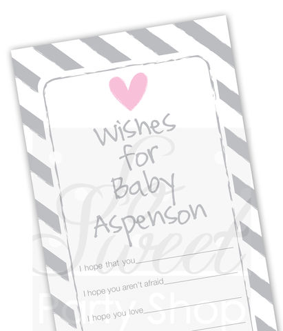 Baby,Wish,Cards,-,Girls,Shower,Well,Decorations,Advice,Set,of,12,girl baby shower, girl baby shower decorations, pink baby shower, baby well wish cards, baby advice cards, pink baby shower favor tags, girls baby shower, baby shower favor tags, baby shower favors, boy shower decorati