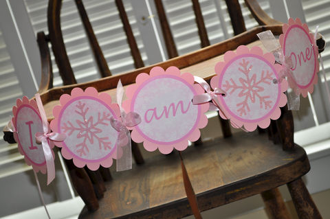 Snowflake,1st,Highchair,Birthday,Banner,-,Snowflake,,Winter,One-derland,Christmas,snowflake birthday, highchair banner, snowflake birthday banner, 1st birthday banner, winter one derland, winter birthday banner, snowflake banner, pink snowflake banner, holiday banner,party decorations, personalized banner, water bottle labels, personal