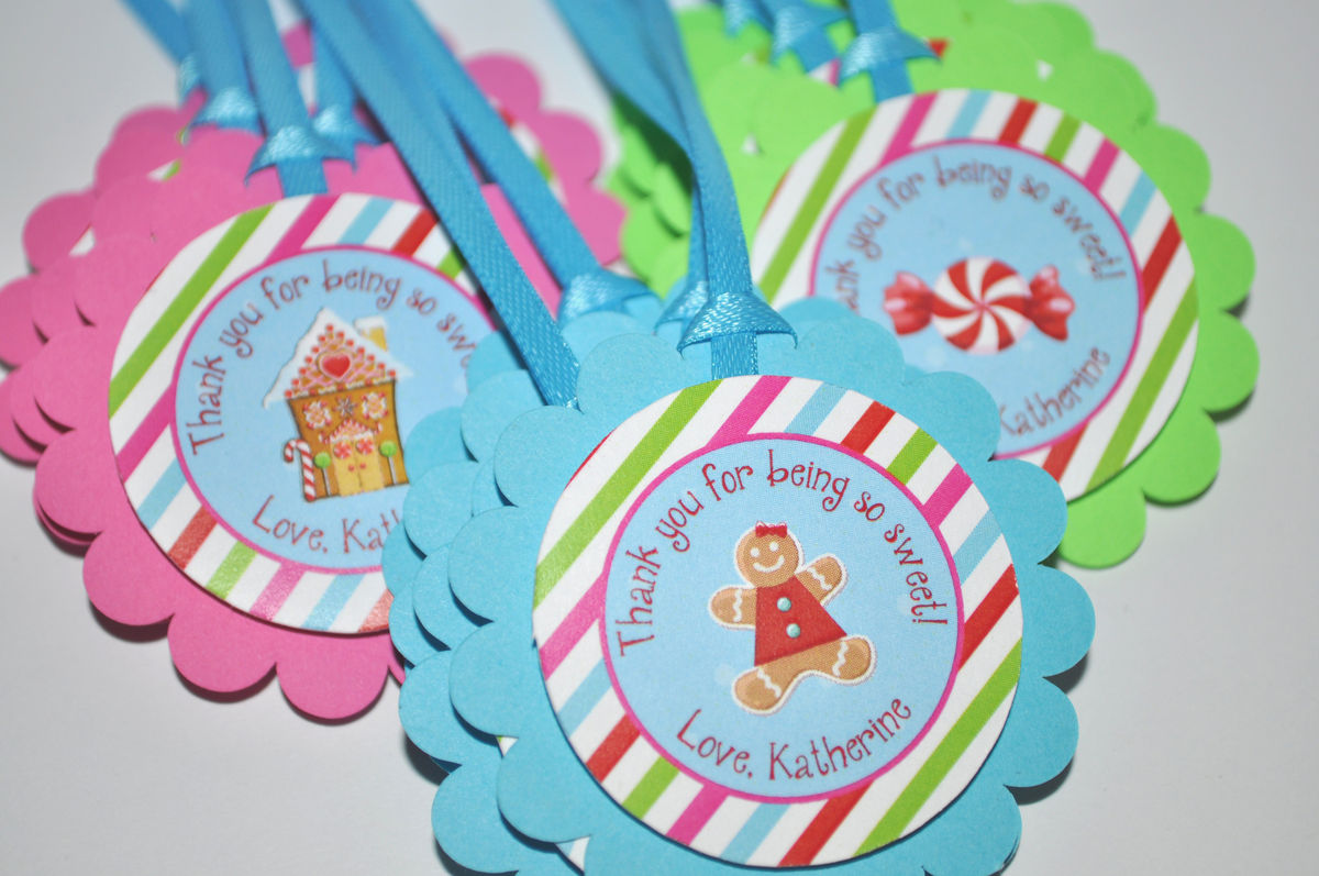 Gymnastics Birthday Party Decorations Favor Tags Collection So Sweet Party Shop