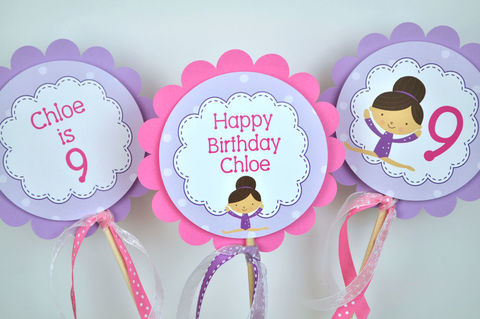 Gymnastics,Birthday,Party,Centerpiece,Sticks,-,Gymnastics,,Tumbling,Girls,Decorations,Set,of,3,gymnastics birthday centerpieces, birthday centerpieces, gymnastics favor tags, party favor tags, favor tags, birthday favors, birthday banners, decoration, baby shower banner, 1st birthday banner, happy birthday banner, party sign, personalized party, gi
