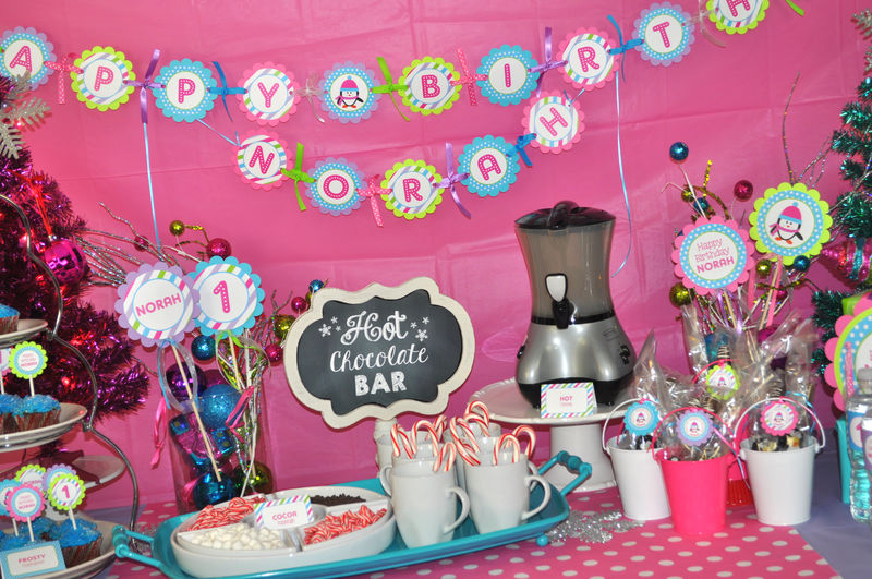 - Girl Penguin Birthday Party - Winter Onederland Birthday Party ...