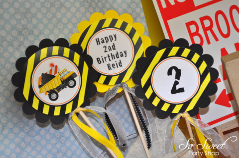 Construction,Birthday,Centerpiece,Sticks,-,Decorations,Dump,Truck,Party,Set,of,3,construction birthday, construction party decorations, construction centerpiece sticks, dump truck birthday party, birthday centerpieces, boys 1st birthday centerpieces, 1st birthday, construction birthday centerpiece decorations