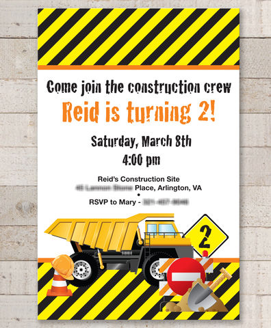 Construction,Birthday,Invitations,-,Decorations,Dump,Truck,Set,of,12,construction birthday, construction party decorations, construction invitations, dump truck birthday party, birthday invitations, boys 1st birthday invitations, 1st birthday, construction birthday invites