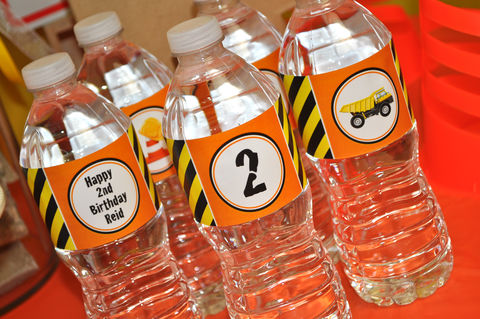 Construction,Birthday,Water,Bottle,Labels,-,Decorations,Dump,Truck,Party,Set,of,10,construction birthday, construction party decorations, construction water bottle labels, dump truck birthday party, birthday party water bottle wraps, boys 1st birthday water bottle labels, 1st birthday, construction birthday drink labels