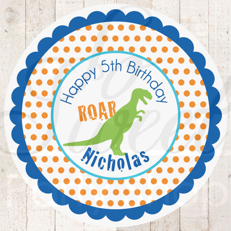 Dinosaur Birthday Party Labels Image Inspiration of Cake and