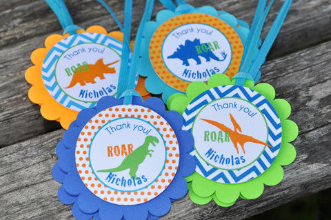 Dinosaur,Party,Favor,Tags,-,Theme,Birthday,Decorations,Set,of,12,dinosaur birthday, dinosaur party decorations, dinosaur favor tags, dinosaur birthday party, birthday favors, boys 1st birthday, 1st birthday, dinosaur birthday favor tags, birthday thank you tags
